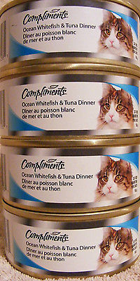 COMPLIMENTS OCEAN FISH & TUNA DINNER FOR CATS - 4 POP TOP CANS - 624 g